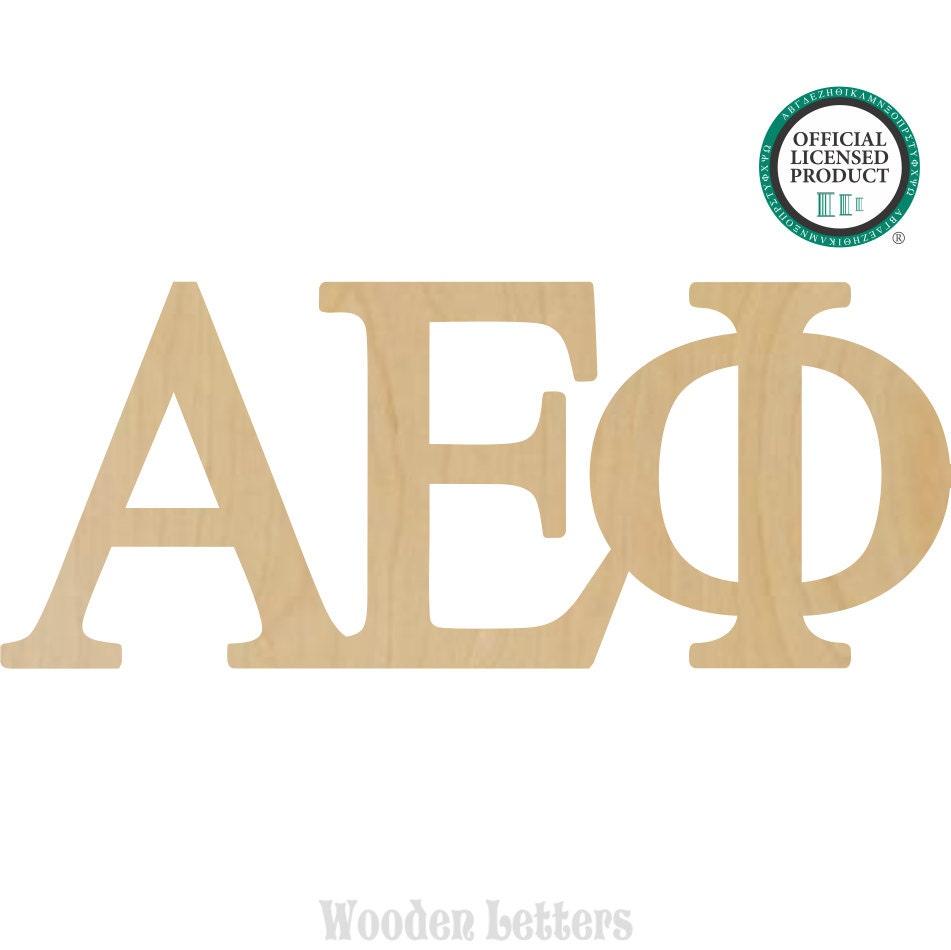 Alpha Epsilon Phi Greek Letters Connected Alpha Epsilon