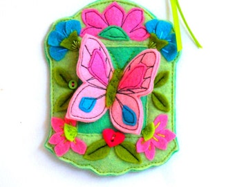 felt butterfly ornament