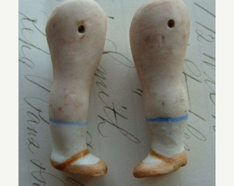 20PercentOff One Pair of Antique Bisque Hand Painted German Doll Legs