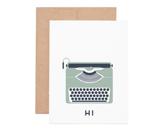 Typewriter Hi Letterpress Greeting Card - Blank Card | Greeting Cards | Letterpress Cards