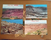 Painted Desert Arizona Postcards Vintage Souvenir Photos Travel USA set of 4