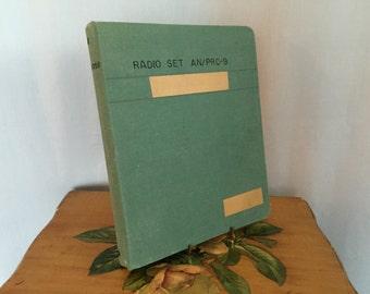 Green Binder Vintage Office Radio Manual