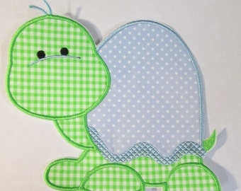 Iron On Applique - Sweet Boy Turtle  NEW Sizes Now Available