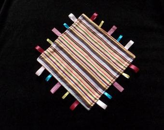 Multi-color Corduroy striped Senory blanket sensory toy