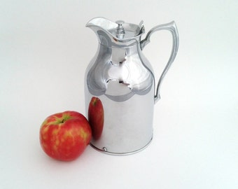 Stronglas Thermos Bottle Company Chrome Pitcher Carafe Jug Canada Vintage Barware Serving Ware