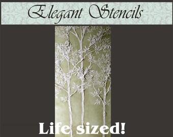 Tree Stencil, Plaster Stencil, Life-sized Sapling Tree Stencil Wall Stencil Mural Stencil, Wall Decor