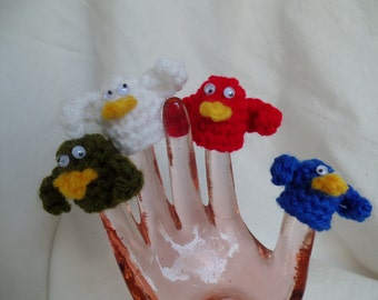 Crochet Bird Finger Puppets