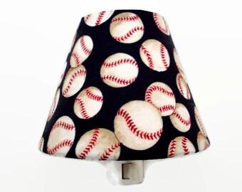 Baseball Night Light - Boys Nursery Decor - Sports Night Light - Baseballs Wall Decor - Boys Night Light - Baseball Light Bathroom