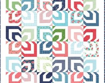 SUMMER SALE - Kaleidoscope - Quilt Kit - by Vanessa Goertzen of Lella Boutique