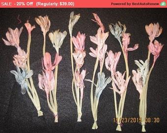 On SALE - Vintage Millinery Organza Flowers Pastels