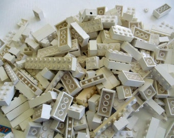 Lego Bricks, 1980s, over one pound in WHITE