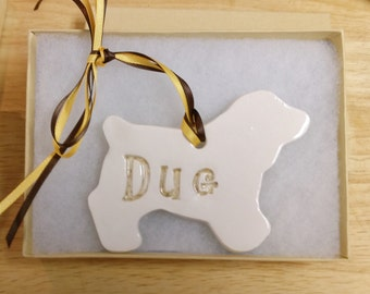 Dog Ornament Personalized 39 Breeds Available