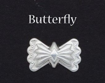 Butterfly Concho - Sterling Silver Conchos Findings - Southwest Southwestern Designs