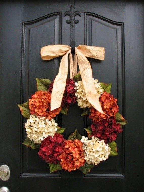 Wreath On Sale Wreaths Fall Hydrangea Wreaths Fall Wreath