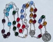 Archangel Michael Chaplet Angelic Crown Chaplet of Saint Michael Handmade Rosary