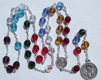 Archangel Michael Chaplet Angelic Crown Chaplet of Saint Michael Handmade Rosary