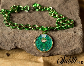 Forest Sage Chainmaille Necklace