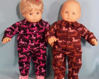 15 inch Doll  Running Horses Pajamas