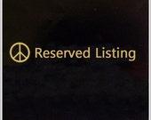Reserved Listing - Diamond Bar Earrings