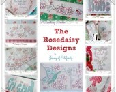 SALE! Ten Rosedaisy stitchery patterns!