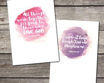 PRINTABLE 5x7 Bible Verse art prints