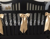 Reserved for Yohanyelin - Gold Crib Bows and 3 pack polka dot bibs