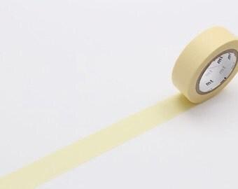 pastel yellow - mt basic colour - washi tape