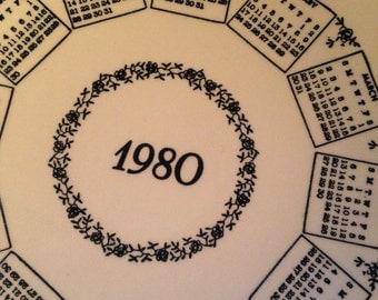 1980 Calendar Plate