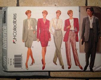 Butterick 3695 Size 12-14-16 Misses' Jacket, Blouse, Skirt, and Pants Pattern UNCUT