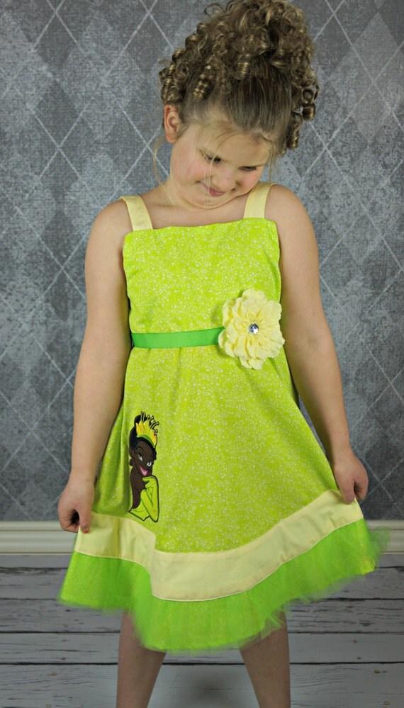 Custom Boutique Disney inspired Tiana dress ready to ship size 7 sale