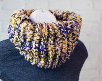 Circle Scarf - Cowl Scarf - The Skinny Dreamer -  Ready to Ship - MULTICOLOR