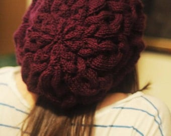 Fact or Flora? Cabled Knit Beret/Hat