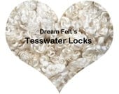 Dream Felt's Beautiful WHITE Teeswater Locks 1 oz  for Santa Beards, Hair, Needle Felting, Wet Felting, Spinning, Doll Hair and more!