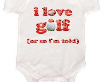 Funny Golf Romper, Ladybug Baby GIrl Bodysuit Newborn Girl Creepers to girls tees