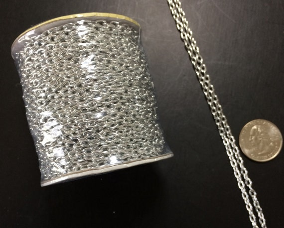 bead landing aluminum chain 4mm x 3mm new 12 by