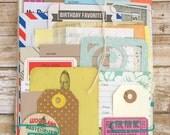 BUMPER Junk Journal Bundle of Envelopes, Tags, Vintage Paper, 50pcs, Journal Kit, Project Life, Smash Book Kit