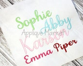 Machine Embroidery Design Font  Samantha Alphabet INSTANT DOWNLOAD