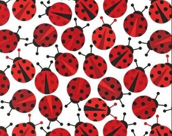 SALE Ann Kelle Lady Bug Urban Zoologie fabric, 1 yard