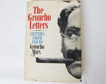 1967 The Groucho Marx Letters Vintage Books Hollywood Show Business Movie History Humor Actor Comedian Personal Professional Correspondence
