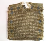 Antique Tiny Beaded Bag of Steel Cut Beads  likely French as found for restoration, display, parts, bead re-use