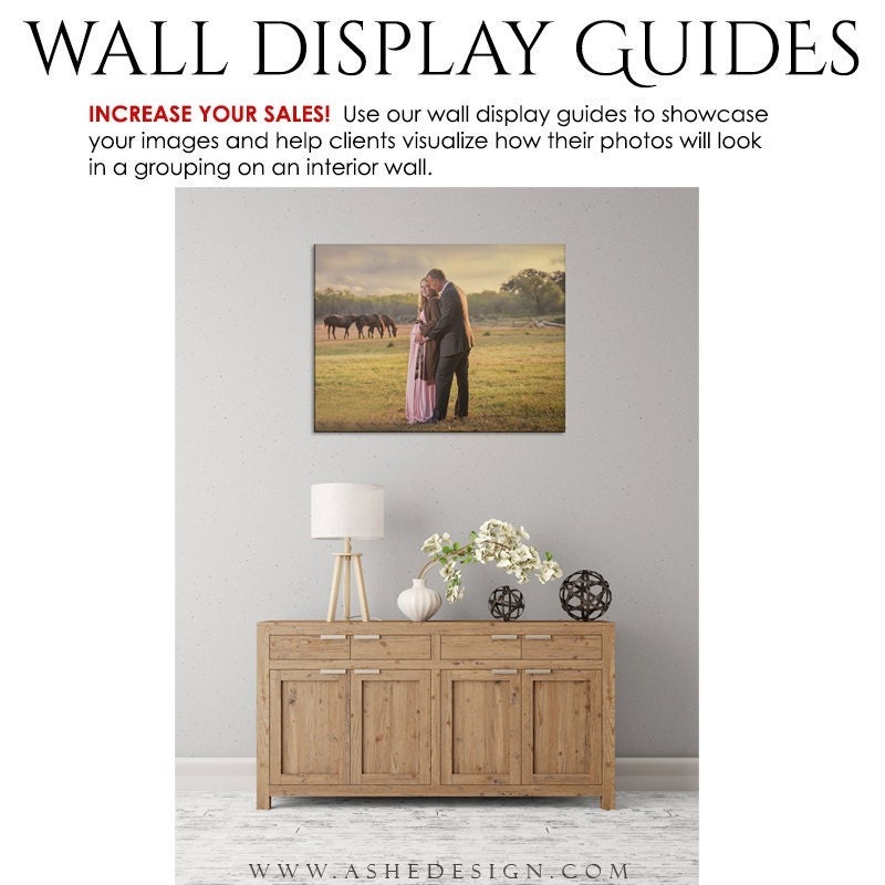 Photography wall display guide rustic buffet 3 - Photo wall display template ...