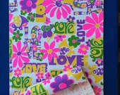 Vintage LOVE Vinyl Contact Paper Mod Flower Power 60's Retro 70's Self Adhesive Plastic for Crafts, Projects, Home Decor