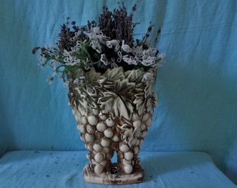 McCoy Cluster of Grapes Novelty Pottery Vase/Vintage 1950s/Mid Century Art Pottery Vase