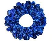 Hair Scrunchie/Ribbon headband/Hair Scrunchies/Ruffle Scrunchies/ribbon Scrunchy /Blue Hair Scrunchie/Handmade Scrunchie /Gift Under 10