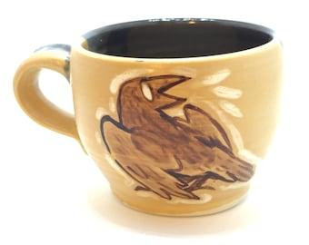 Small Raven/Crow Tea Cup