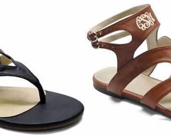 Monogrammed Gladiator Style Sandal