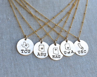 Graduation Jewelry - Graduation Necklace - College Pride Necklace -  2017 Graduation Gift - College Going Away Gift - Senior Gift