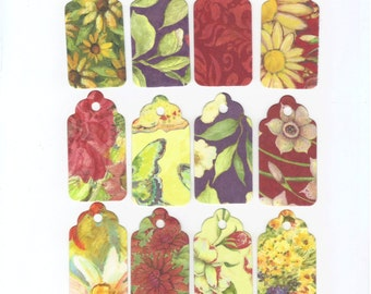 Gift Hang Tags -  Meadow Collection Double-Sided Medium Scallop Top Tags (24)