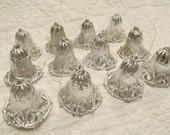 Lot of 12 Vintage Plastic Bells