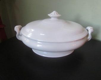 Antique Edward Clarke Tunstall England Porcelain Soup Tureen